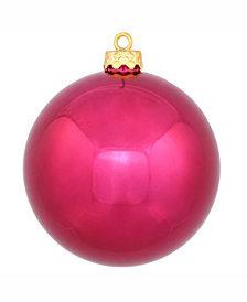 "Vickerman 8"" Wine Shiny Ball Christmas Ornament"