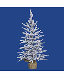 Vickerman 48 inch Frosted Angel Pine Artificial Christmas Tree Unlit