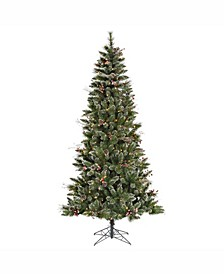 4.5 ft Snow Tipped Pine And Berry Artificial Christmas Tree