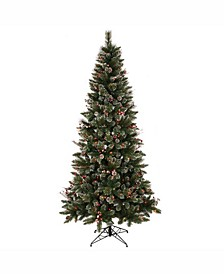 6 ft Snow Tipped Pine And Berry Artificial Christmas Tree