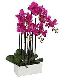 Vickerman 21 inch Artificial Purple Orchid
