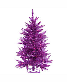 Vickerman 3 ft Purple Artificial Christmas Tree