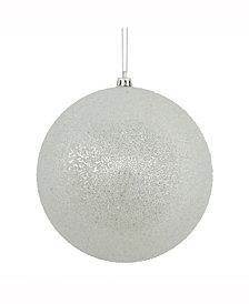 "Vickerman 8"" Silver Iced Ball Ornament"