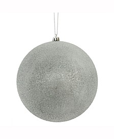 """8"""" Pewter Iced Ball Ornament"""