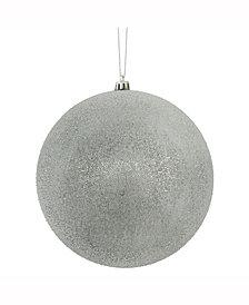 "Vickerman 8"" Pewter Iced Ball Ornament"