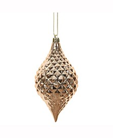 "6 X 3"" "" Rose Gold Shiny Diamond Drop Ornament"
