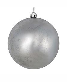 "Vickerman 6"" Silver Foil Ornament 4/Bag"