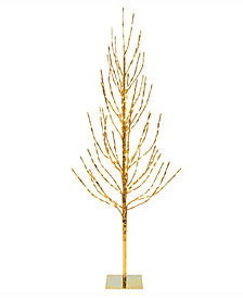 Vickerman 3' Gold Artificial Christmas Tree With 200 Warm White Led Lights
