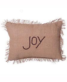 Vickerman Decorative Pillow Featuring Rustic And Festive Burlap