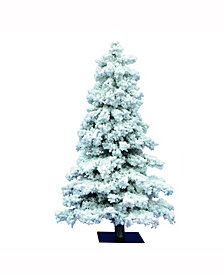 Vickerman 7 ft Flocked Spruce Artificial Christmas Tree With 886 Pvc Tips