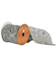 Silver Ribbon With Silver Diamond Mirror Center Stripe