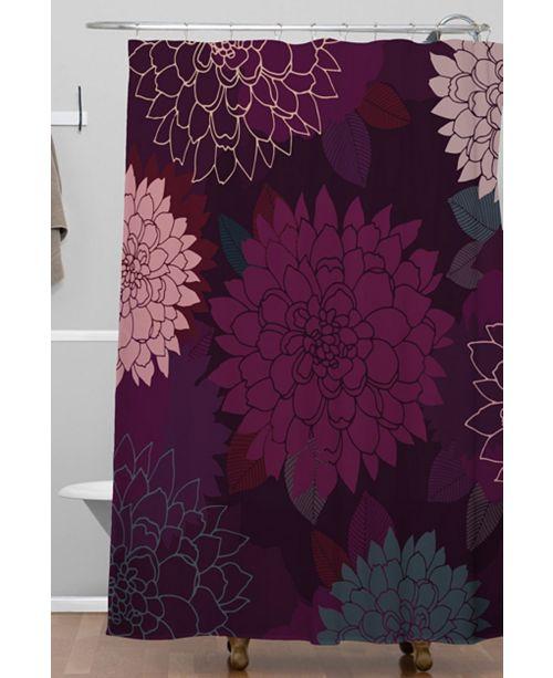Deny Designs Iveta Abolina Burgundy Rose Shower Curtain