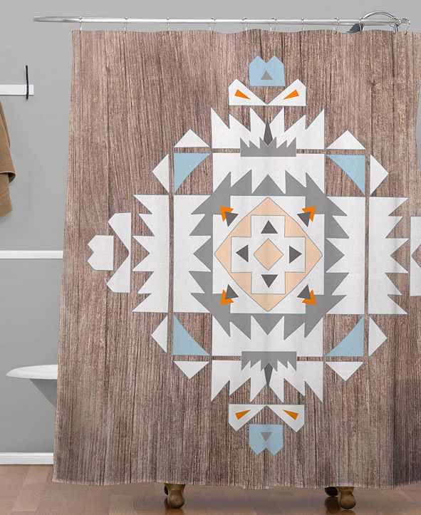 Deny Designs Iveta Abolina Purple Nebula Shower Curtain