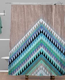 Iveta Abolina Winter Blue Shower Curtain