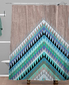 Deny Designs Iveta Abolina Winter Blue Shower Curtain