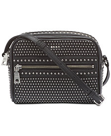 DKNY Faye Leather Top Zip Stud Camera Bag, Created for Macy's