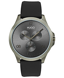 HUGO Men's #Risk Gray Rubber Strap Watch 41mm