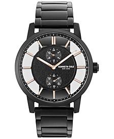 Men's Black Ion-Plated Stainless Steel Bracelet Watch 44mm