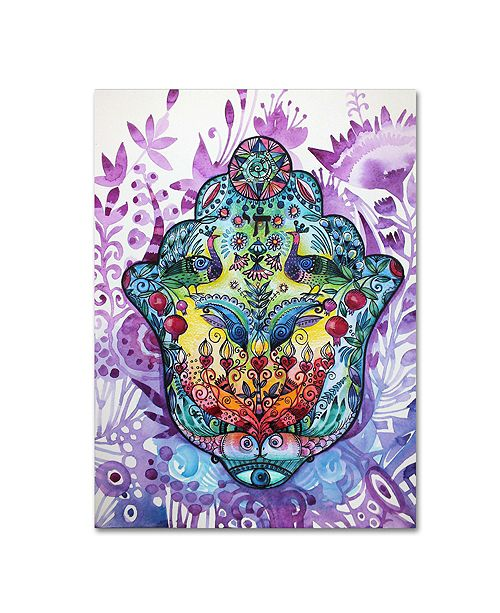 "Trademark Global Oxana Ziaka 'Hamsa' Canvas Art - 19"" x 14"" x 2"""