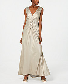 Calvin Klein Twisted Metallic Gown