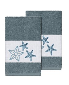 Lydia 2-Pc. Embellished Hand Towel Set