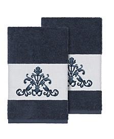 Linum Home Scarlet 2-Pc. Embellished Hand Towel Set
