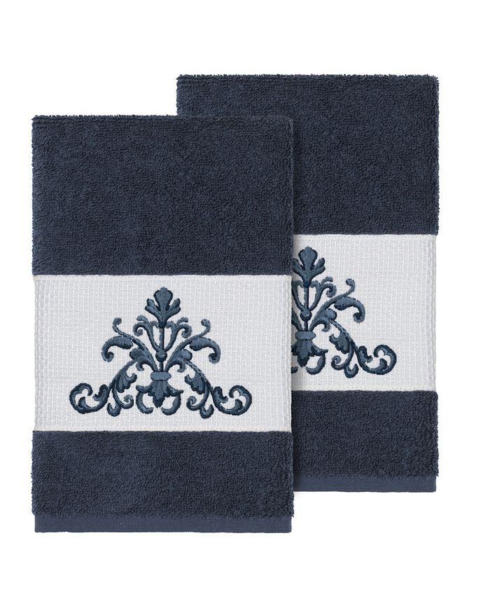 Linum Home - SCARLET 2PC Embellished Hand Towel Set
