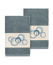 Linum Home Annabelle 2-Pc. Embellished Hand Towel Set