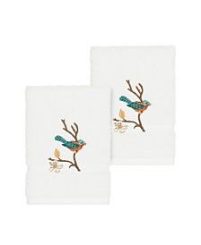Linum Home Springtime 2-Pc. Embellished Washcloth Set