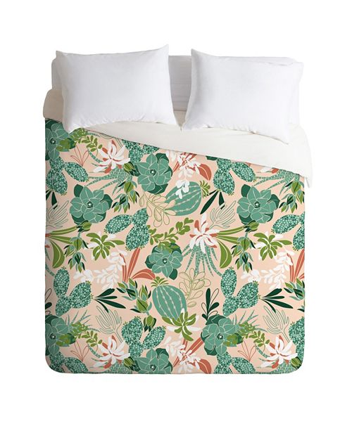 Deny Designs Heather Dutton Succulent Garden Blush Twin Duvet Set