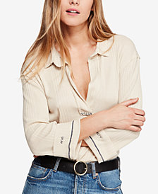 Free People Annie Ribbed Top