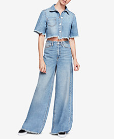 Free People Dust in the Wind Cotton Top & Jeans Set