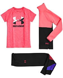 Under Armour Big Girls Sweatshirt, T-Shirt & Jogger Pants