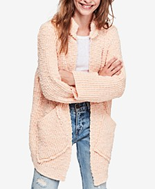 Waterfront Cardigan Sweater & Maggie Cotton Ripped Straight-Leg Jeans