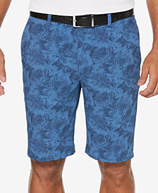 PGA TOUR Men's Tropical-Print Seersucker Shorts