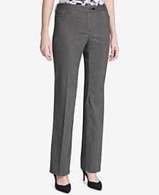 Calvin Klein Petite Herringbone Pants