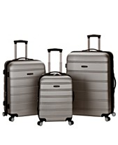 Rockland Melbourne 3-Piece ABS Luggage Set 880da6690f047