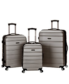 Rockland Melbourne 3PCE Hardside Luggage Set