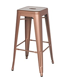 Bella Luna Galanized Steel Bar Stool (Set of 4)