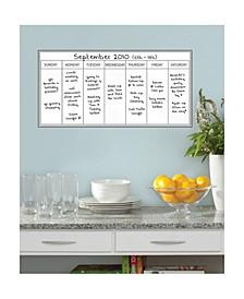 Whiteboard Weekly Calendar Decal Set Of 2