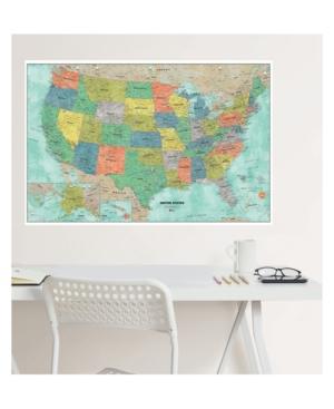 Aquarelle Us Dry Erase Map