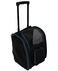 "16.5"" Premium Pet Carrier Bag With Wheels"