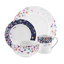 Home Mid Summer  16-Pc Dinnerware Set, Service for 4