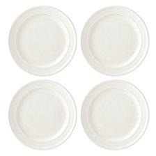 kate spade new york Set of 4 Sculpt Stripe Cream Dinner Plates