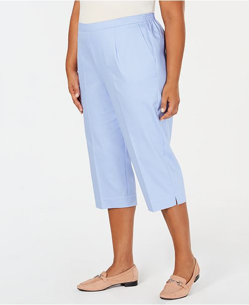 0e1705bdb94 Alfred Dunner Plus Size Turtle Cove Pull-On Capri Pants   Reviews ...