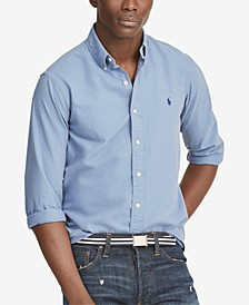Men's Classic-Fit Garment-Dyed Oxford Shirt