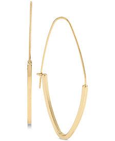 BCBG Gold-Tone Marquise Hoop Earrings