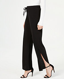 I.N.C. Seamed Drawstring Wide-Leg Pants, Created for Macy's