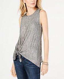 INC Crinkle-Shine Top, Created for Macy's