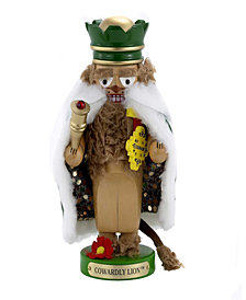 Kurt Adler 11 Inch Steinbach Chubby Wizard of Oz Cowardly Lion Nutcracker